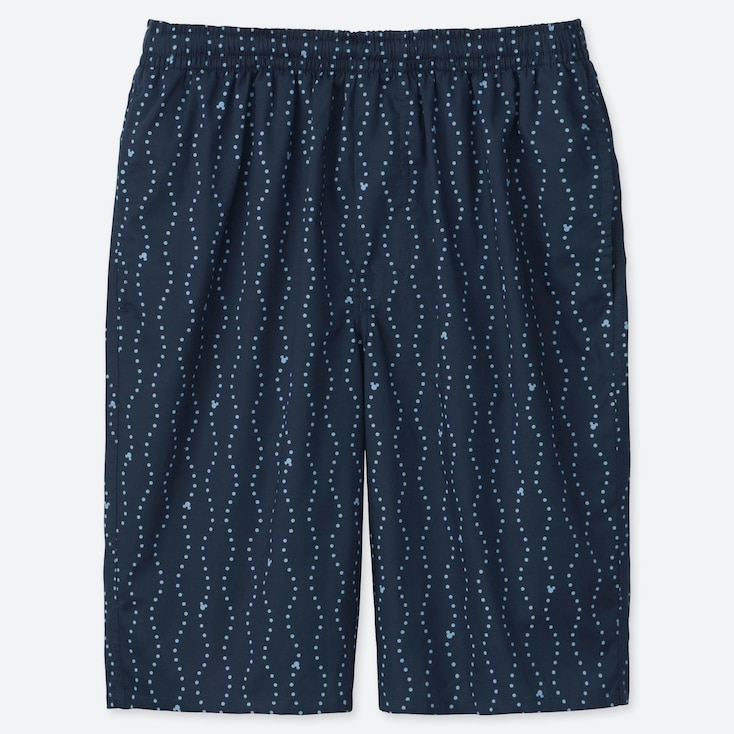 MEN MICKEY BLUE LIGHT COTTON EASY SHORTS, NAVY, large