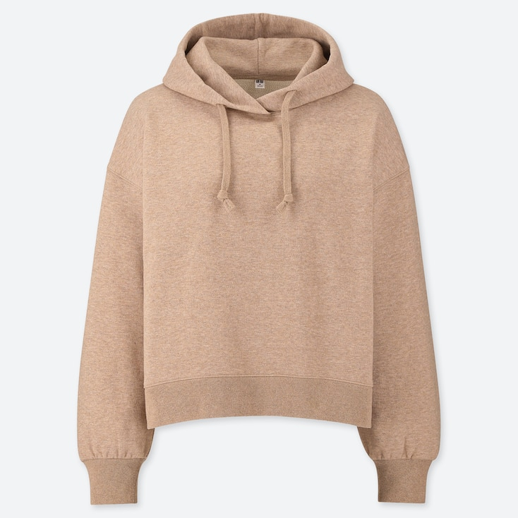 f66afb7af WOMEN CROPPED FIT PULLOVER HOODIE | UNIQLO