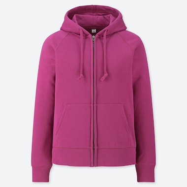 WOMEN SWEAT ZIPPED HOODIE