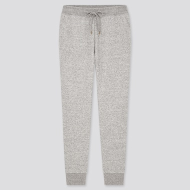 WOMEN PILE-LINED SWEATPANTS, GRAY, medium