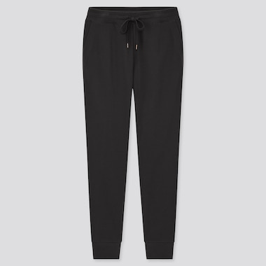 Women Pile-Lined Sweatpants, Black, Medium