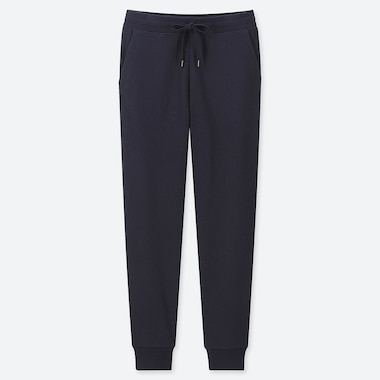 WOMEN PILE-LINED SWEATPANTS, NAVY, medium