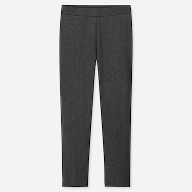 WOMEN PONTE SLIM PANTS, DARK GRAY, medium