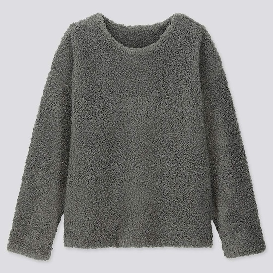 women-fleece-lined-jumper--(2) by uniqlo