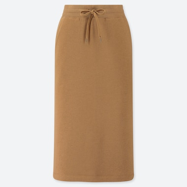 WOMEN PILE LINED SWEAT SKIRT