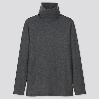 T Shirt Thermique À Col RoulÉ Et Manches Longues En Heattech Femme  (6) by Uniqlo