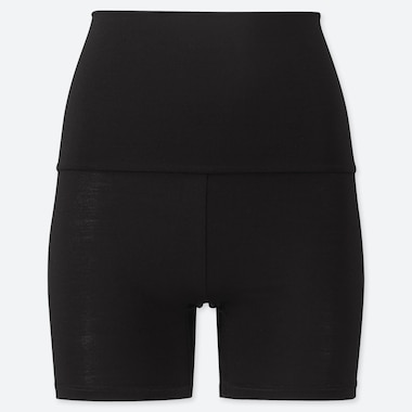 WOMEN HEATTECH WAIST-WARMER SHORTS (ONLINE EXCLUSIVE), BLACK, medium