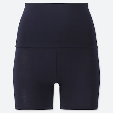 WOMEN HEATTECH WAIST-WARMER SHORTS (ONLINE EXCLUSIVE), NAVY, medium