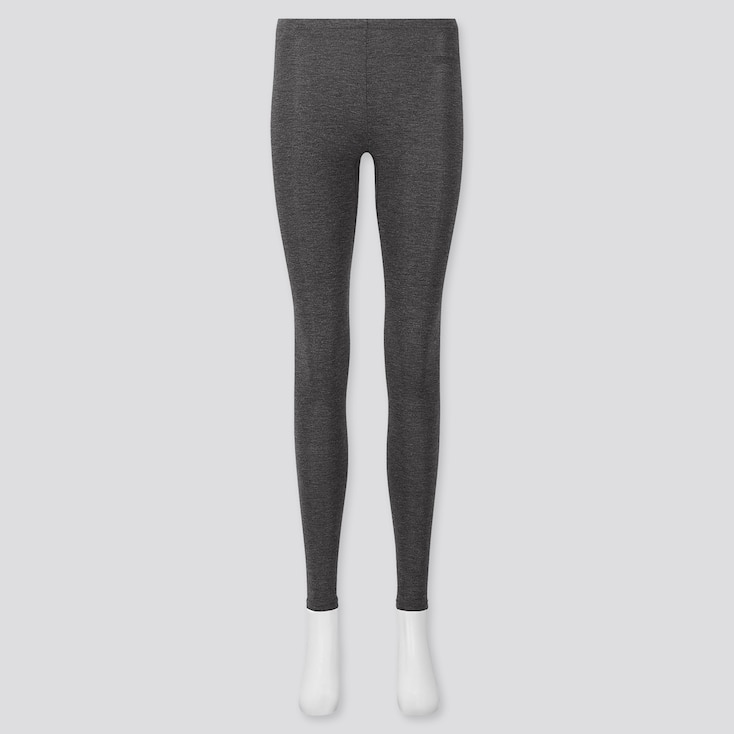 WOMEN HEATTECH LEGGINGS, DARK GRAY, large