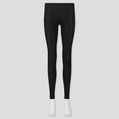 Women Heattech Leggings, Black, Medium