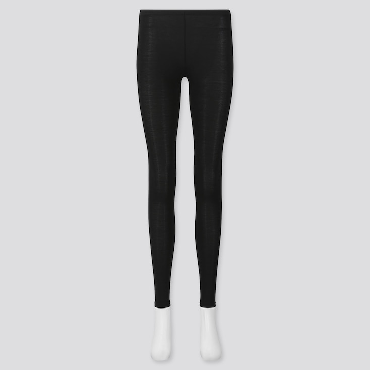 Women Heattech Leggings, Black, Large