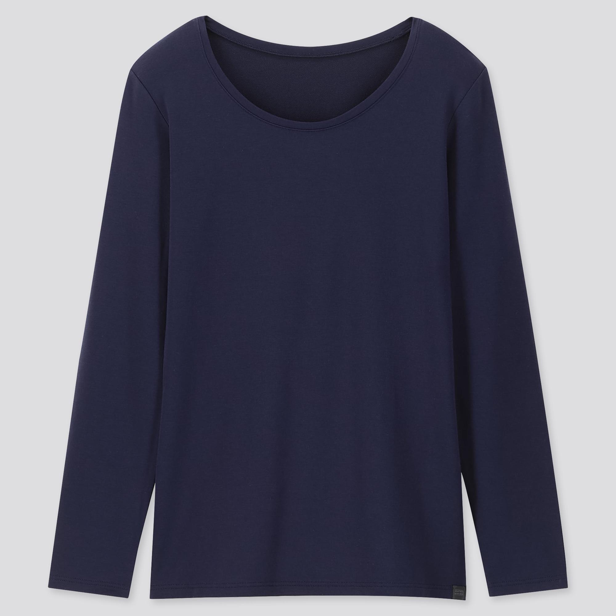Uniqlo women heattech extra warm crew neck t-shirt