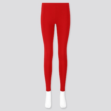 WOMEN HEATTECH ULTRA WARM LEGGINGS, RED, medium