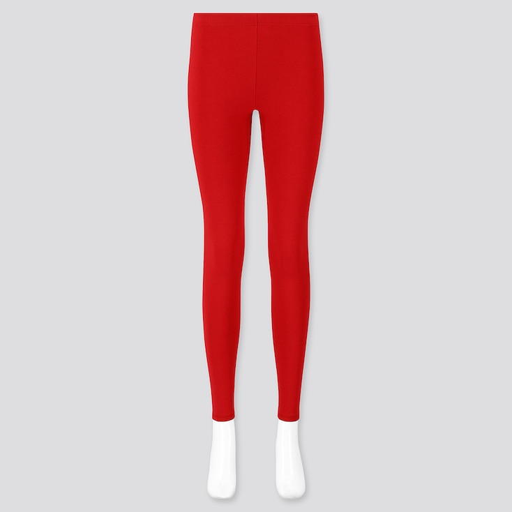 WOMEN HEATTECH ULTRA WARM LEGGINGS, RED, large