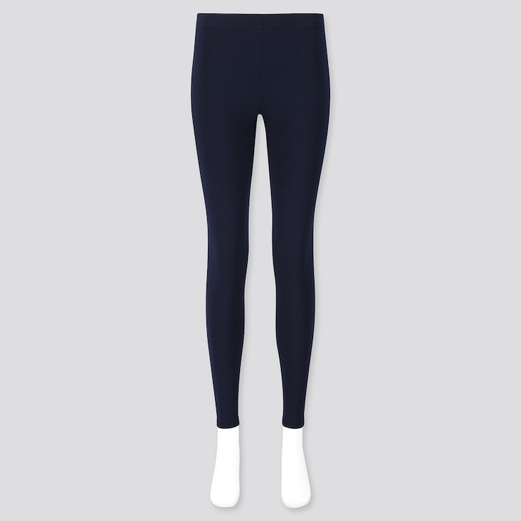 Women Heattech Ultra Warm Leggings, Navy, Large