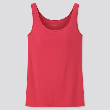 WOMEN HEATTECH BRA SLEEVELESS TOP, RED, medium