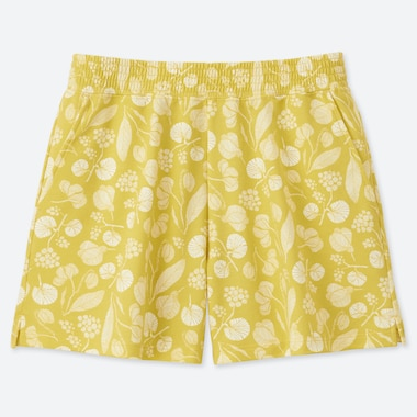WOMEN Scandinavian SHORTS, MUSTARD, medium