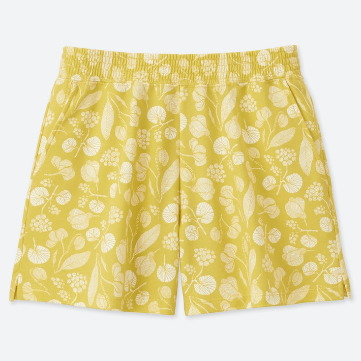 WOMEN Scandinavian SHORTS, MUSTARD, large