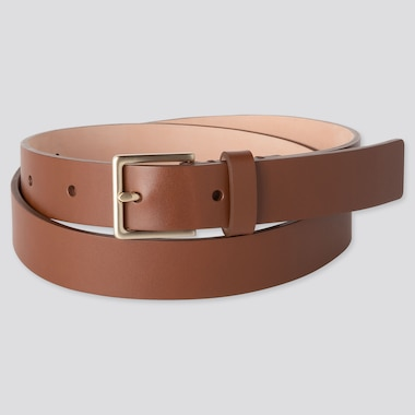 WOMEN CLEAN BELT, BROWN, medium