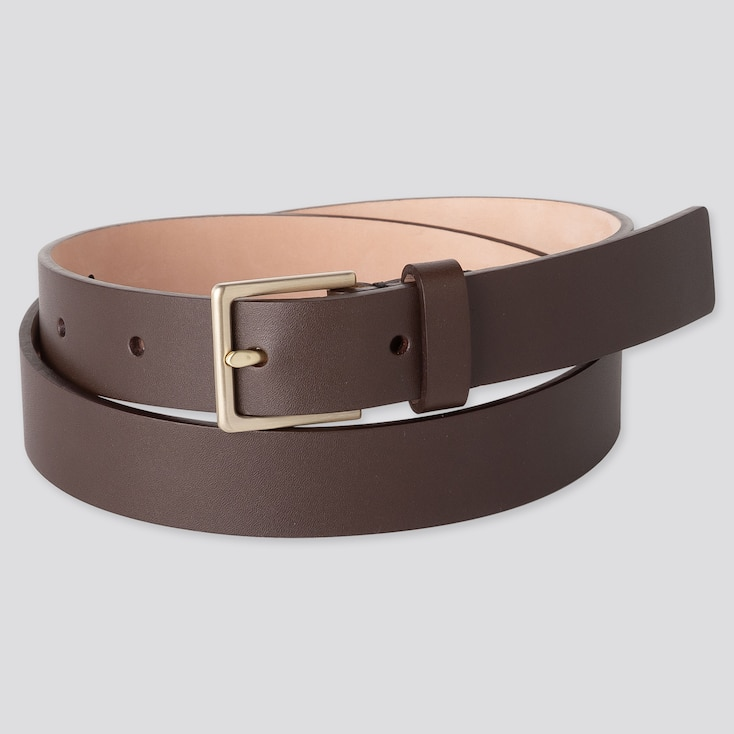 WOMEN CLEAN BELT, DARK BROWN, large