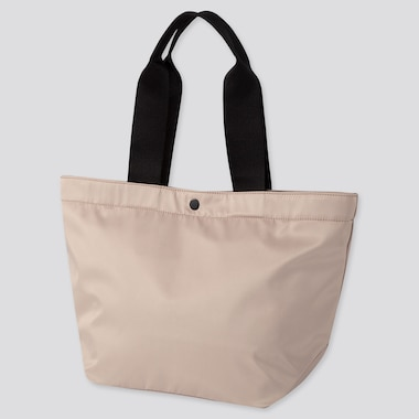 NYLON TOTE BAG, BEIGE, medium
