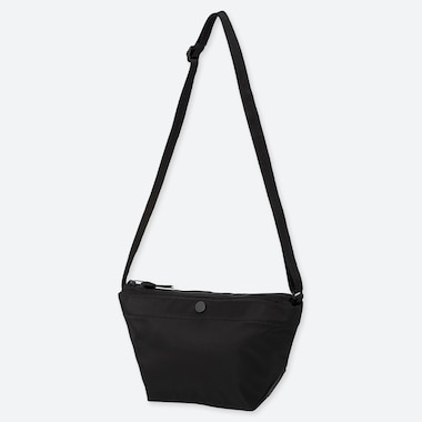 WOMEN NYLON MINI SHOULDER BAG, BLACK, medium