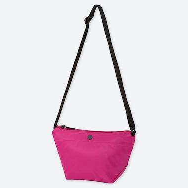 WOMEN NYLON MINI SHOULDER BAG, PINK, medium