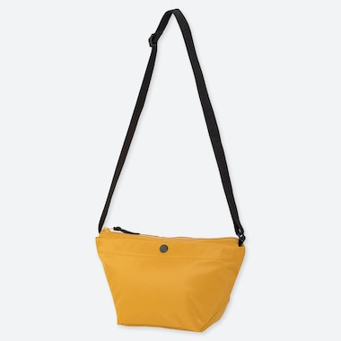 WOMEN NYLON MINI SHOULDER BAG, YELLOW, medium