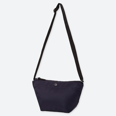 Nylon Mini Shoulder Bag, Navy, Medium