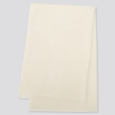 CASHMERE STOLE, OFF WHITE, medium