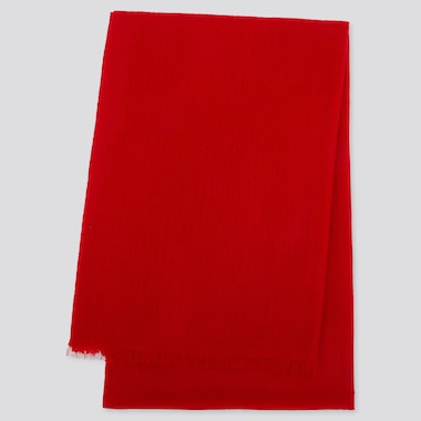 CASHMERE STOLE, RED, medium