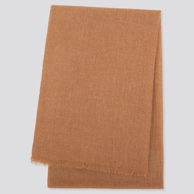 Cashmere Stole, Khaki, Medium
