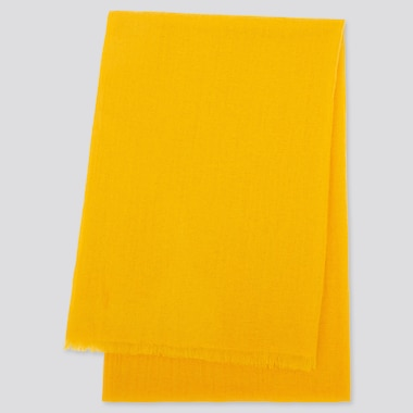 CASHMERE STOLE, YELLOW, medium