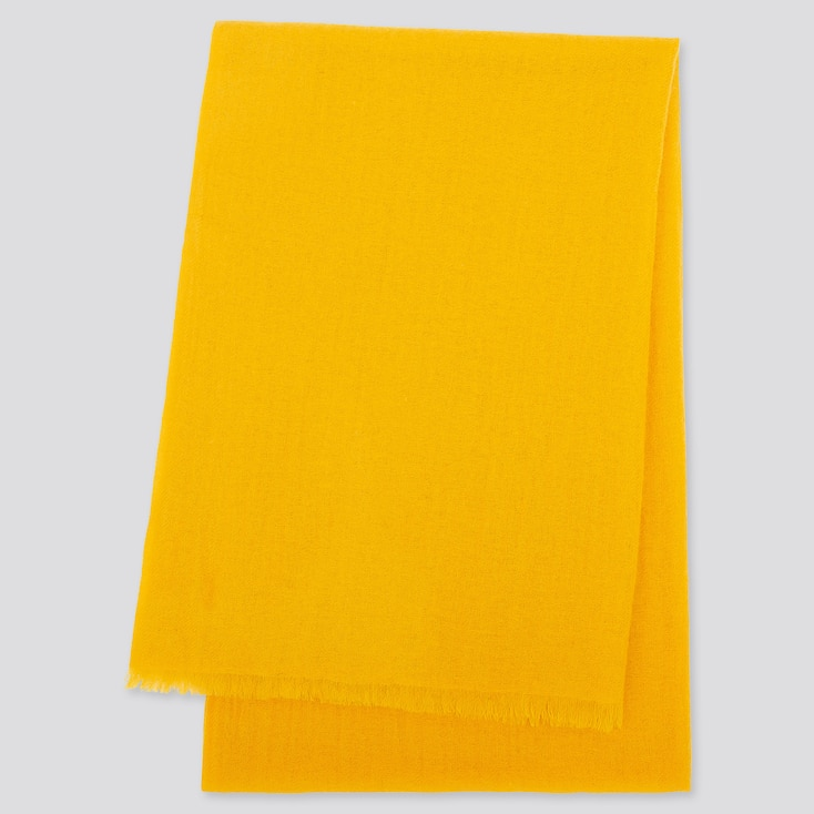 Cashmere Stole, Yellow, Large