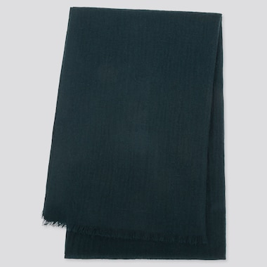 CASHMERE STOLE, DARK GREEN, medium