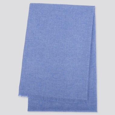 CASHMERE STOLE, BLUE, medium