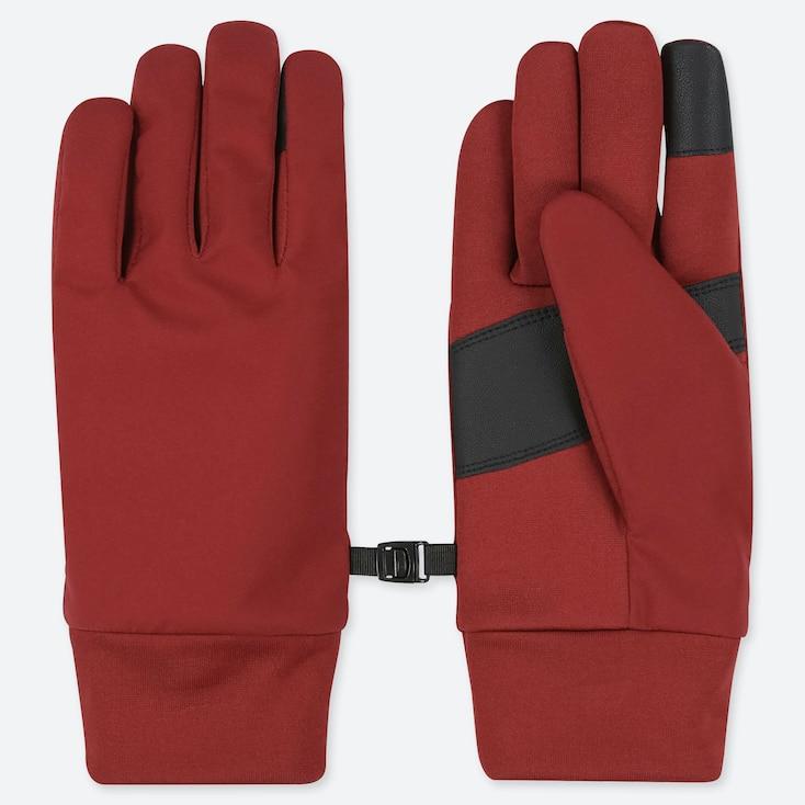 Women Heattech Function Gloves, Red, Large