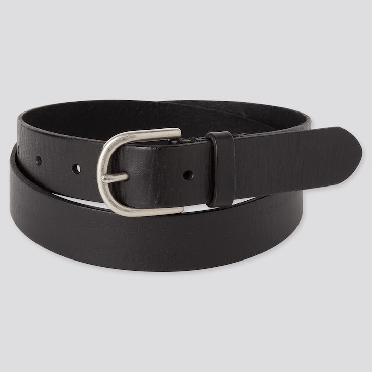 WOMEN VINTAGE BELT, BLACK, large