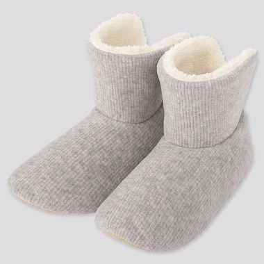 WOMEN CORDUROY FLEECE SLIPPERS, LIGHT GRAY, medium