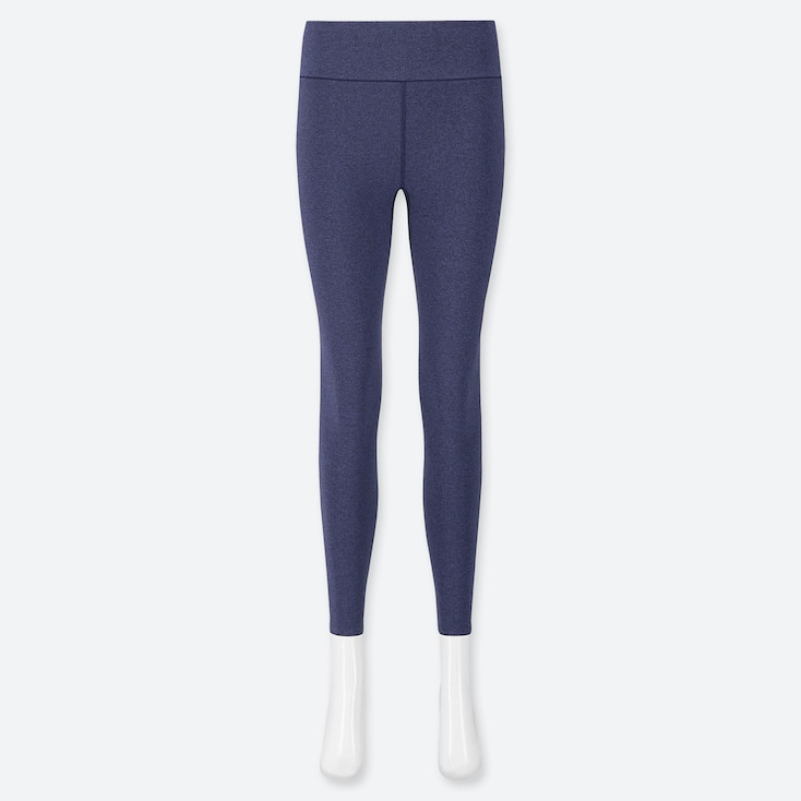 WOMEN AIRism SOFT LEGGINGS, BLUE, large
