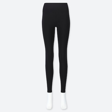WOMEN HEATTECH SEAMLESS LEGGINGS, BLACK, medium