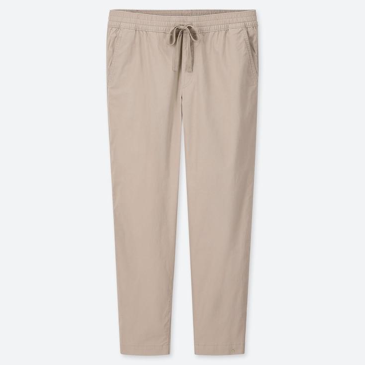 MEN COTTON RELAX ANKLE-LENGTH PANTS, NATURAL, large