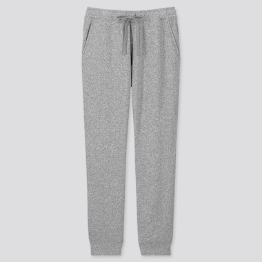 Men Knit Fleece Easy Pants, Gray, Medium