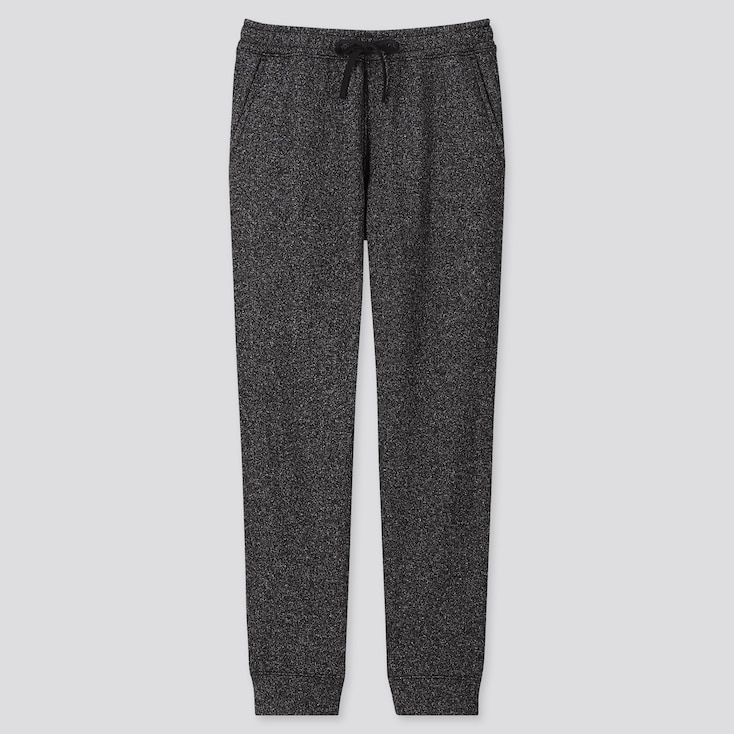 Men Knit Fleece Easy Pants, Black, Large