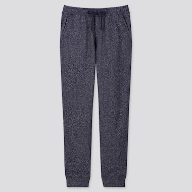 MEN KNIT FLEECE EASY PANTS, BLUE, medium