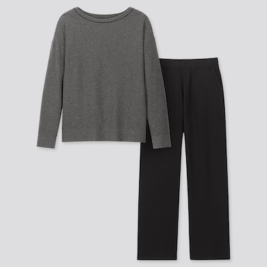 WOMEN ULTRA STRETCH LONG-SLEEVE SET, DARK GRAY, medium