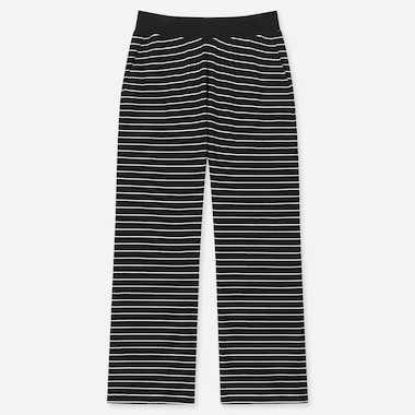 WOMEN ULTRA STRETCH STRIPED TROUSERS