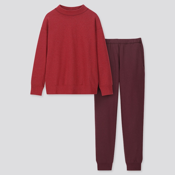 Women Ultra Stretch Warm Long-sleeve Set, Red, Large