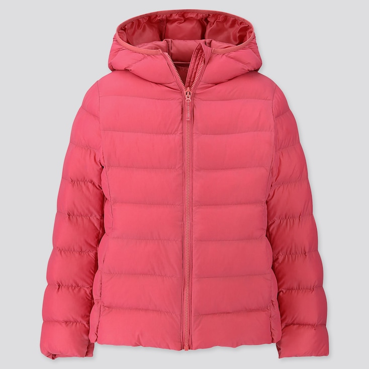 GIRLS LIGHT WARM PADDED PARKA, PINK, large
