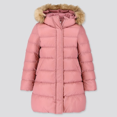 GIRLS WARM PADDED COAT, PINK, medium